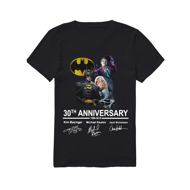 30th Anniversary Batman 1989-2019 V-neck T-shirt
