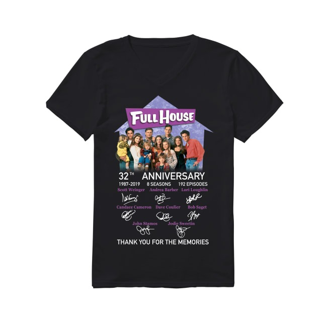 32th Anniversary Full House 1987-2019 V-neck T-shirt