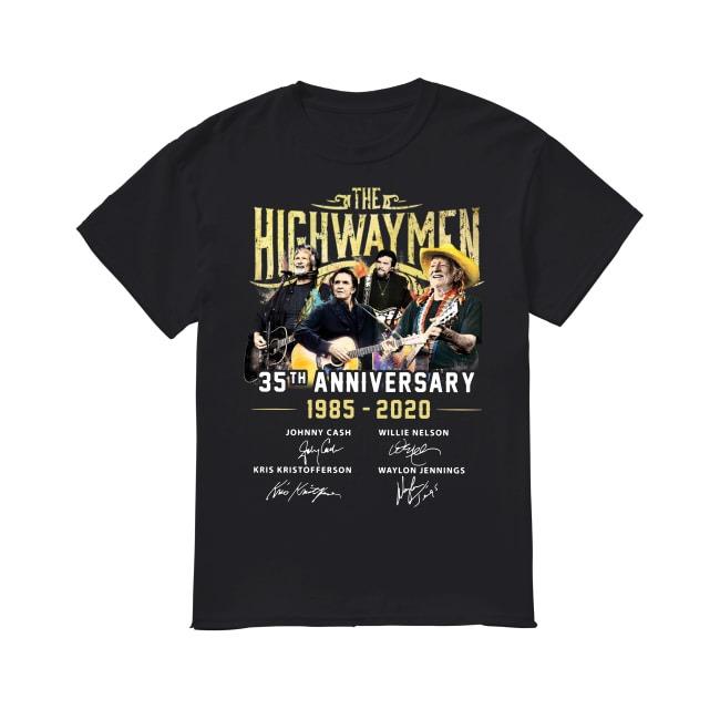 35th Anniversary The Highwaymen 1985-2020 shirt
