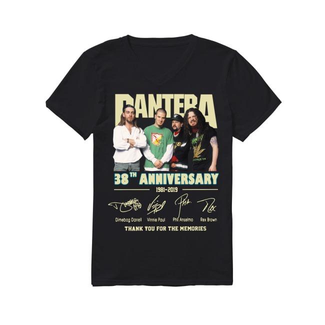 38th Anniversary Pantera 1981-2019 V-neck T-shirt