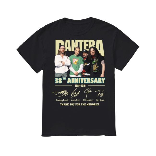 38th Anniversary Pantera 1981-2019 shirt