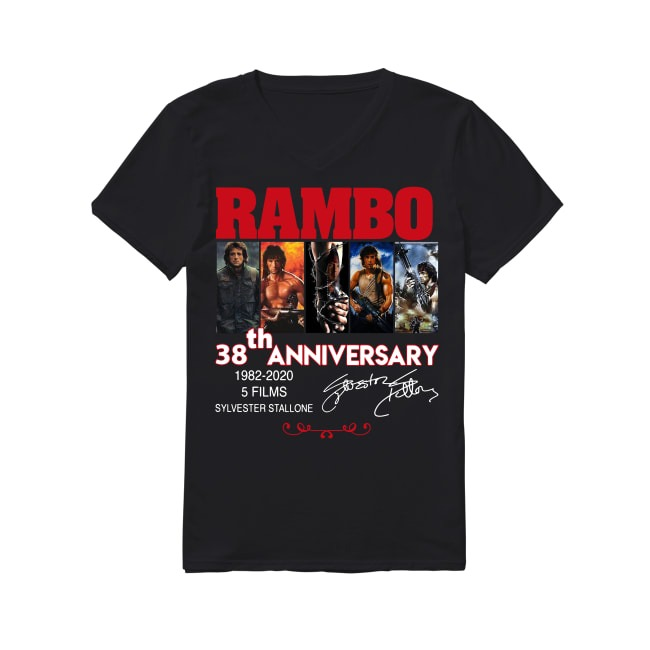 38th Anniversary Rambo 1982-2020 V-neck T-shirt