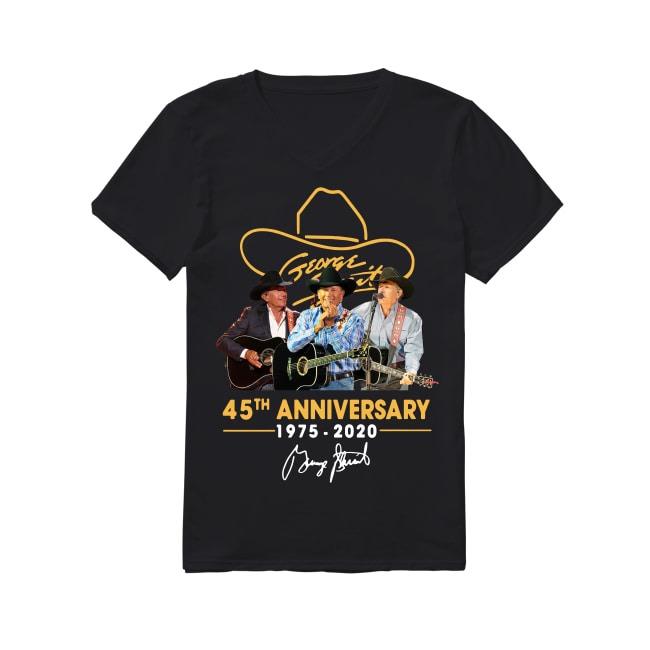 45th Anniversary George Strait 1975-2020 V-neck T-shirt