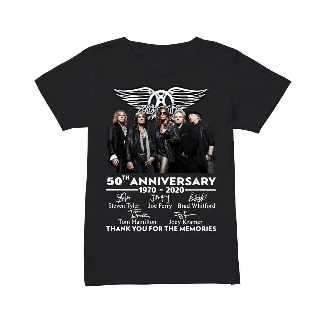 50th Anniversary Aerosmith 1970-2020 V-neck T-shirt