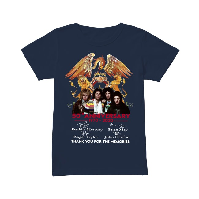 50th Anniversary Queen Band 1970-2020 V-neck T-shirt