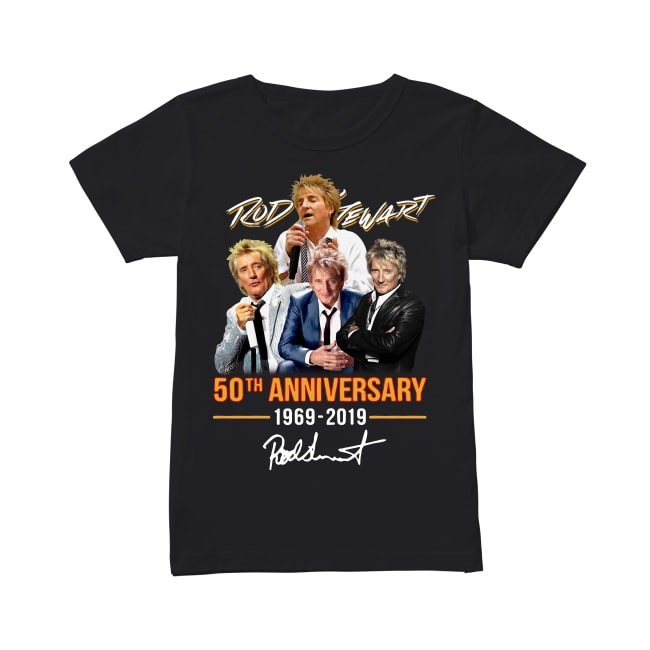 50th Anniversary Rod Stewart 1969-2019 V-neck T-shirt
