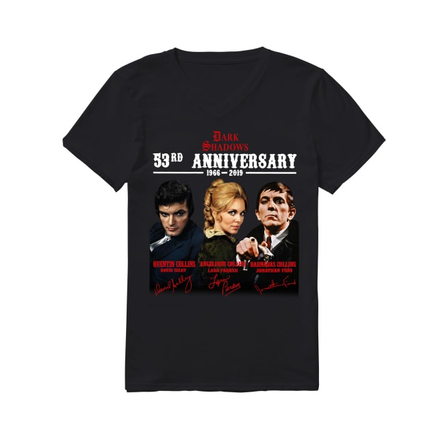 53rd Anniversary Master Of Dark Shadows The Gothic World Of Dan Curtis 1966-2019 V-neck T-shir