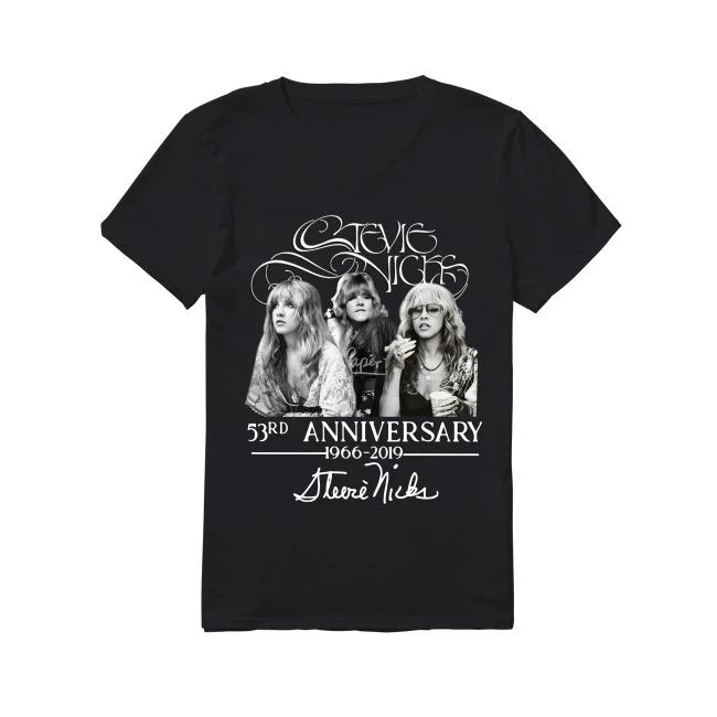 53rd Anniversary Stevie Nicks 1966-2019 V-neck T-shirt