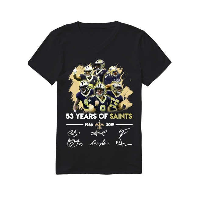 53th Years Of New Orleans Saints 1966-2019 V-neck T-shirt