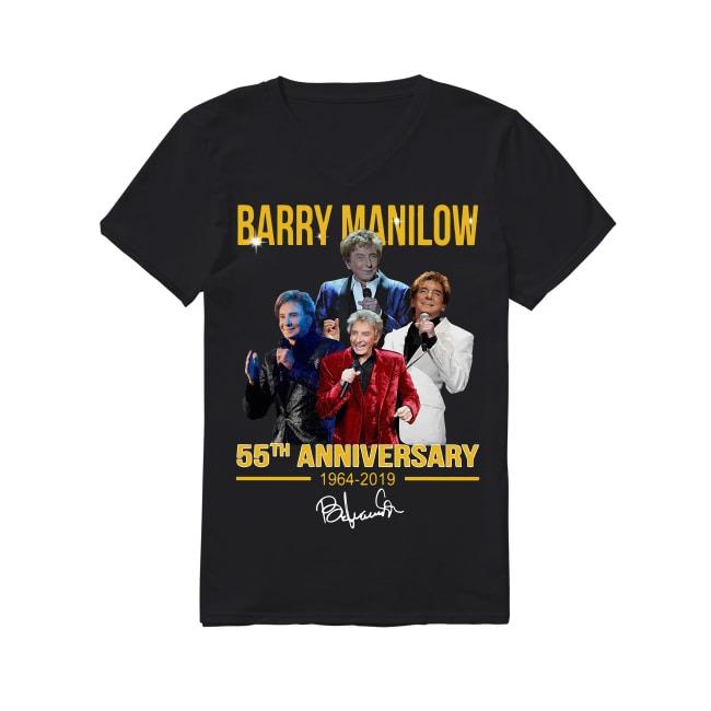 55th Anniversary Barry Manilow 1964-2019 V-neck T-shirt