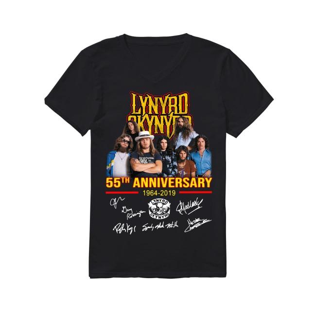 55th Anniversary Lynyrd Skynyrd 1964-2019 V-neck T-shirt