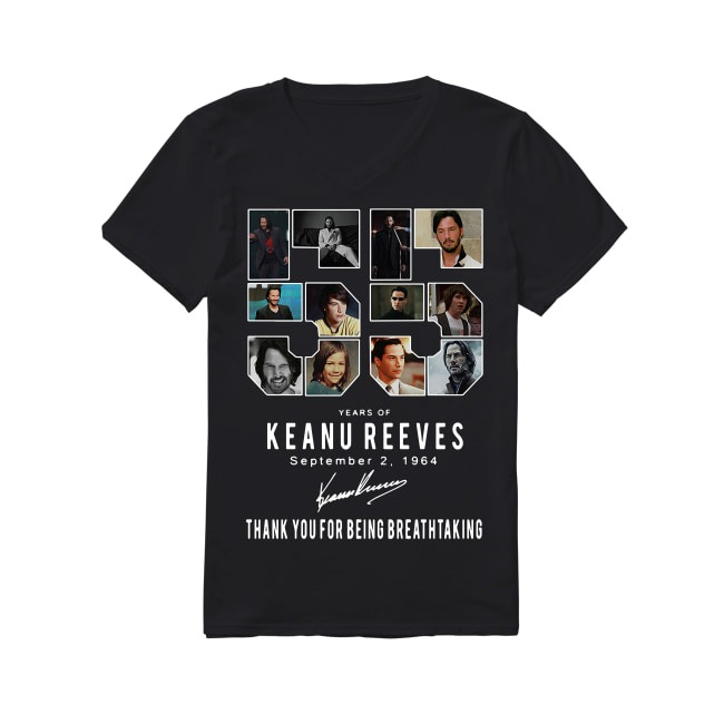 55th Years Of Keanu Reeves 1964-2019 V-neck T-shirt