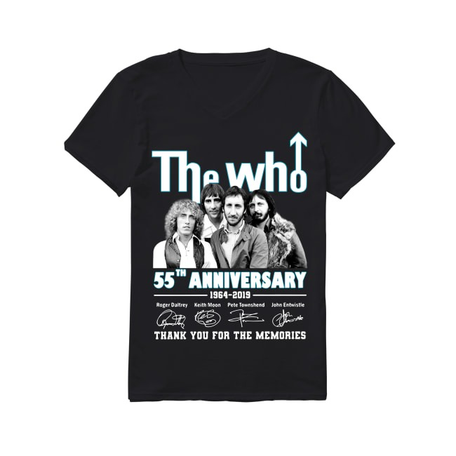 55th Years Of The Who Music Band 1964-2019 V-neck T-shirt