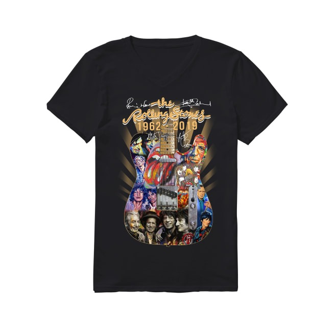 57th Years Of The Rolling Stones 1962-2019 V-neck T-shirt