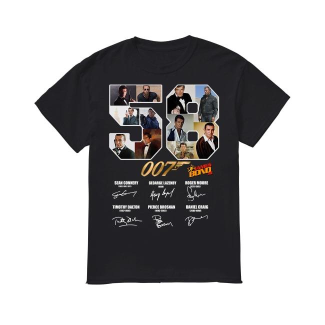 58th Years Of Agent 007 James Bond 1962-2020 shirt