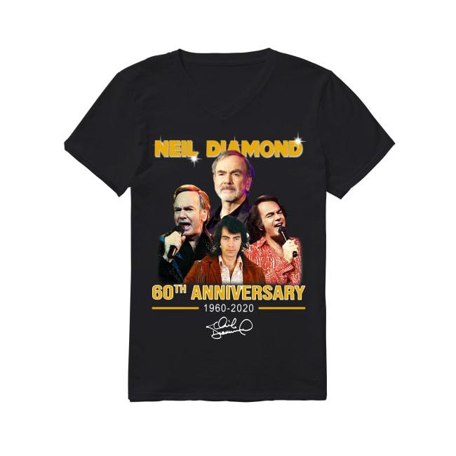 60th Anniversary Neil Diamond 1960-2019 V-neck T-shirt