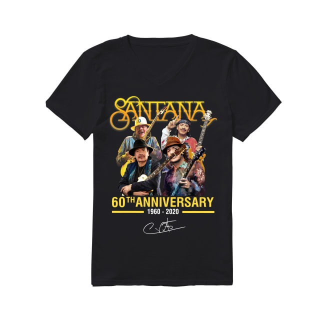 60th Anniversary Santana 1960-2020 V-neck T-shirt