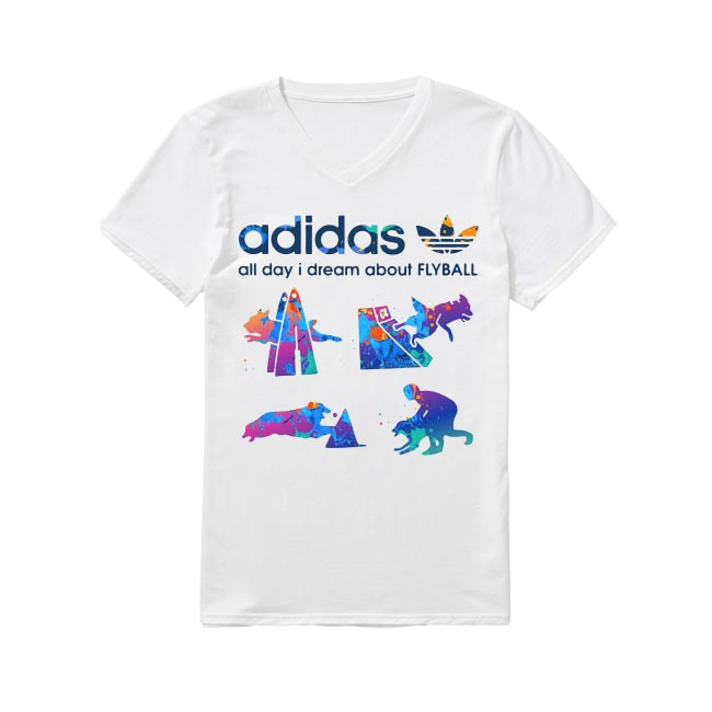 Adidas Logo and Dog Lover shirtAdidas Logo and Dog Lover V-neck T-shirt