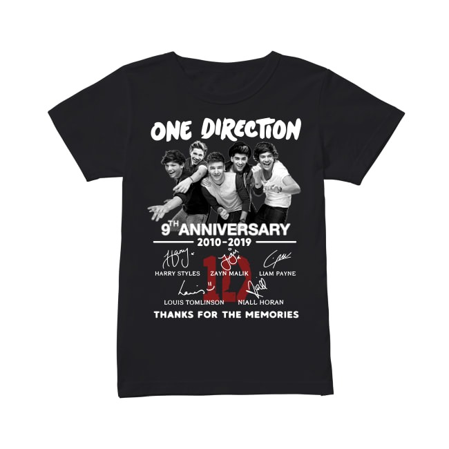 Anniversary One Direction 2010-2019 Ladies Tee