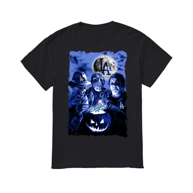 Halloween and Los Angeles Dodgers Baseball shirt