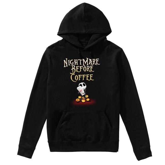 Jack Skellington and Halloween NightMare Before Coffee Hoodie