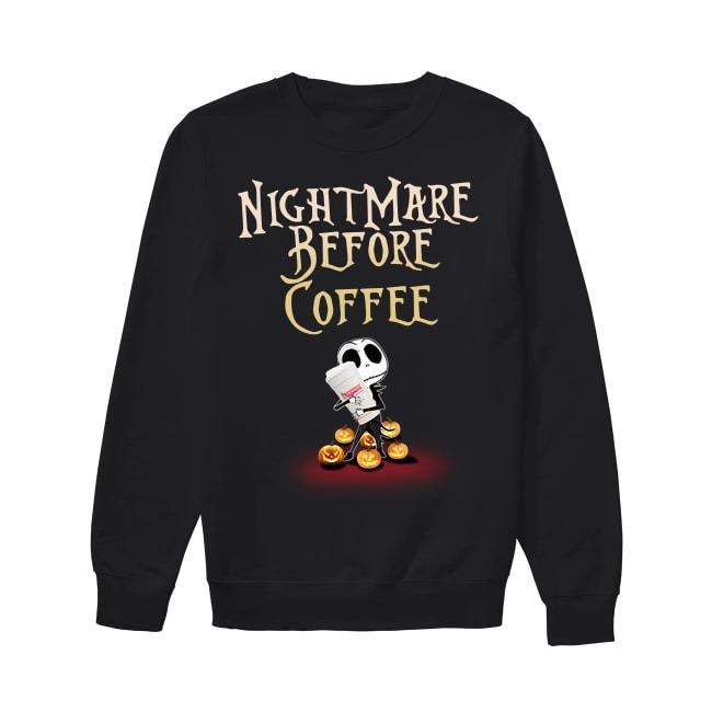 Jack Skellington and Halloween NightMare Before Coffee Sweater