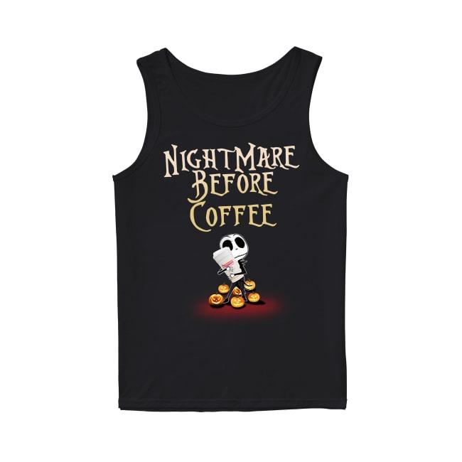 Jack Skellington and Halloween NightMare Before Coffee Tank Top