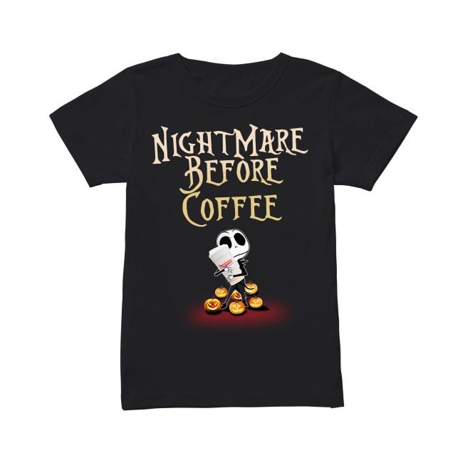 Jack Skellington and Halloween NightMare Before Coffee Ladies Tee