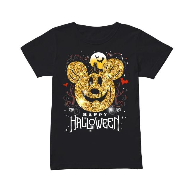 Mickey Mouse Happy Halloween Ladies Tee