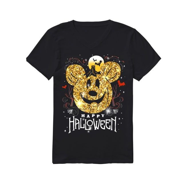 Mickey Mouse Happy Halloween V-neck T-shirt