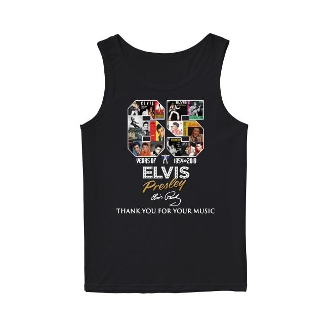 Official 65th Years Of Elvis Presley 1954-2019 Tank Top
