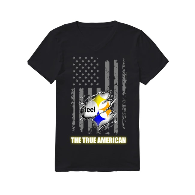 Pittsburgh Steelers The True American V-neck T-shirt