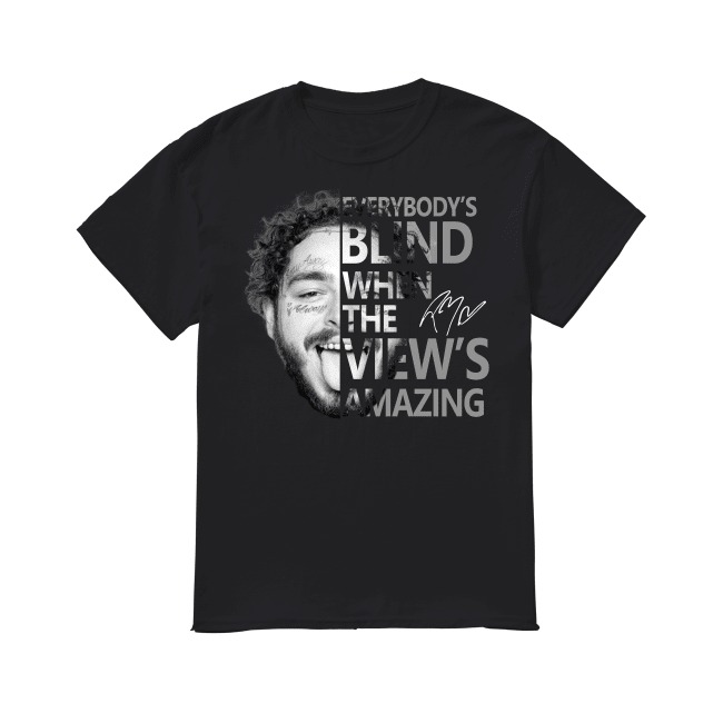 Post Malone Everyboby's Blind When The View's Amazing shirt