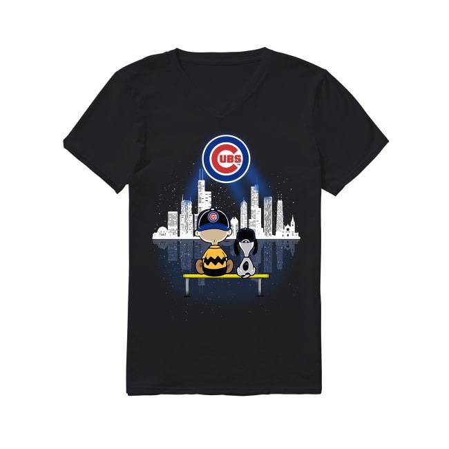 Snoop Chicago Cubs Baseball V-neck T-shirt