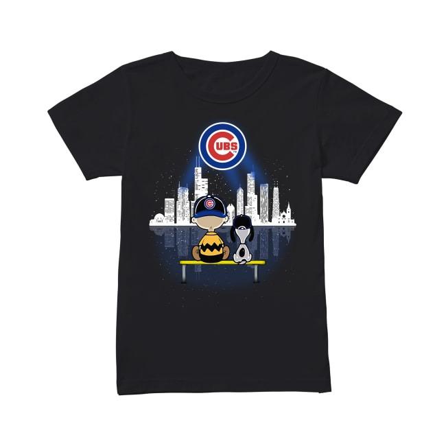 Snoop Chicago Cubs Baseball Ladies Tee