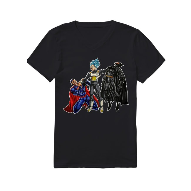Vegeta Of Dragon Ball and Spider-Man Of DC Comics V-neck T-shirt