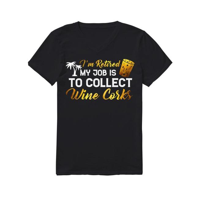 Wine Corks V-neck T-shirt