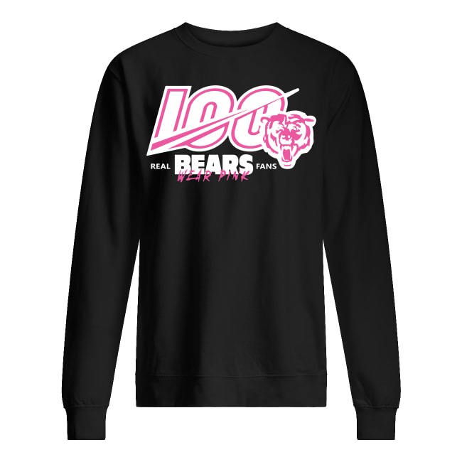 100th Chicago Bears Wear Pink Sweater