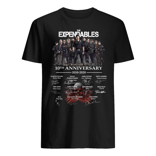 10th Anniversary The Expendables 2010-2020 shirt
