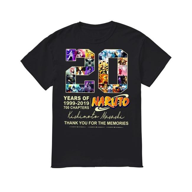 20th Years Of Naturo 1999-2019 shirt