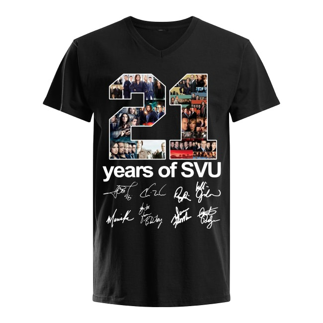 21th Years Of Law and Order Special Victims Unit V-neck T-shirt