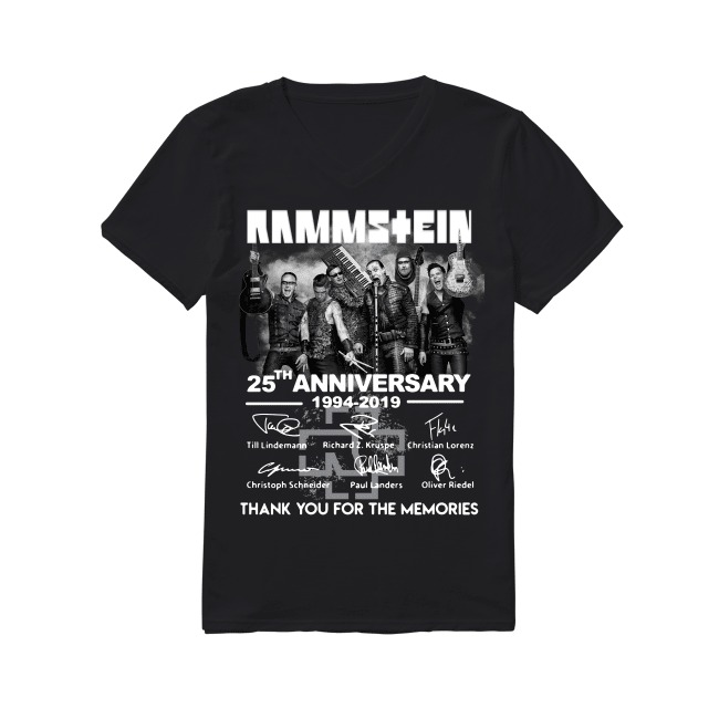 25th Anniversary Rammstein 1994-2019 V-neck T-shirt