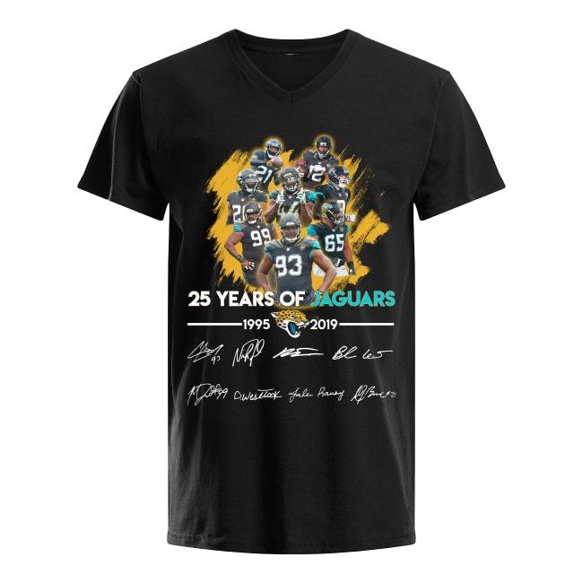 25th Years Of Jacksonville Jaguars Fooball 1995-2019 V-neck T-shirt