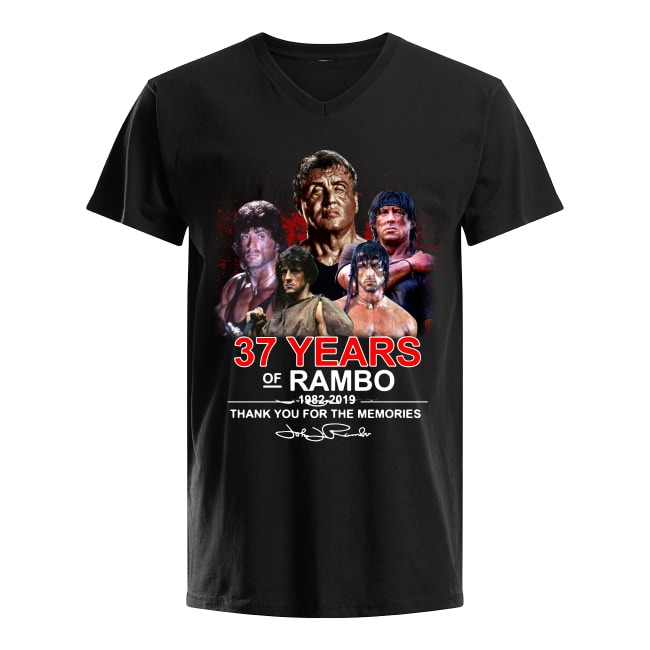 37th Years Of Rambo 1982-2019 Thank You For The Memories V-neck T-shirt
