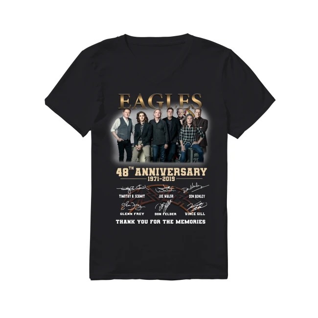 48th Anniversary Eagles 1971-2019 V-neck T-shirt