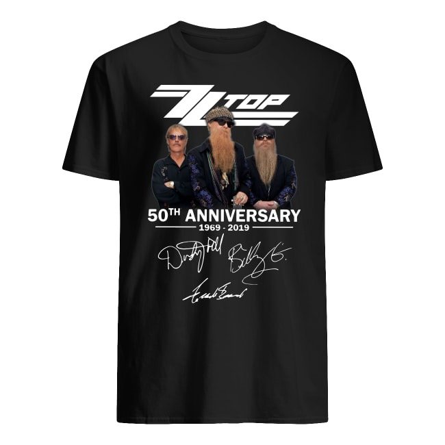 50th Anniversary ZZ Top 1969-2019 shirt