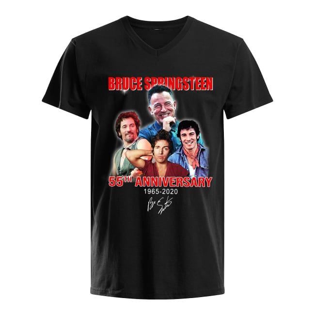 55th Anniversary Bruce Springsteen 1965-2020 V-neck T-shirt