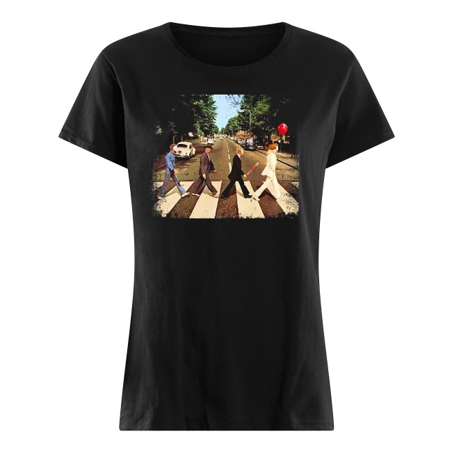 Abbey Road The Beatles and Horror Movies Ladies Tee