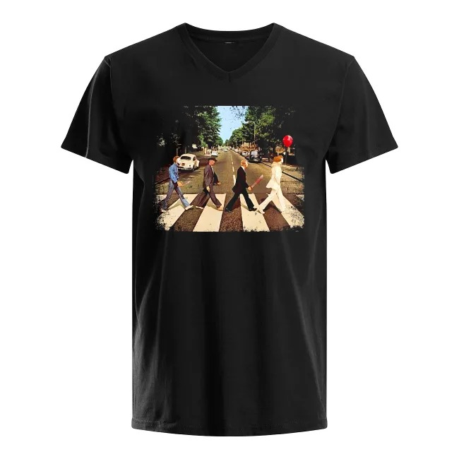 Abbey Road The Beatles and Horror Movies V-neck T-shirt