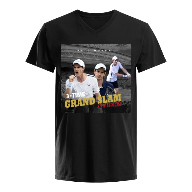 Andy Murray Tennis Grand Slam Champion V-neck T-shirt